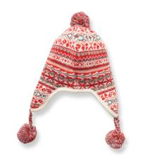 Miúdos das crianças das meninas do inverno quente gorro de malha earflap ao ar livre ear warmer esqui aviador chapéu (hw635)