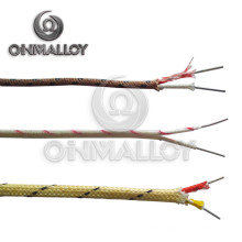 Swg 25 Fiberglass Steel Braid K Type High Temperature Thermocouple Extension Wire