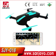 Pocket Foldable Drone With Camera Fpv Quadcopter Rc Helicopter Wifi Mini Drones Toys For Kids Dron Vs Jjrc H37 Selfie SJY-018