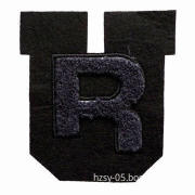 Towel embroidery patches in multiple shapes and colors, customized designs are welcome