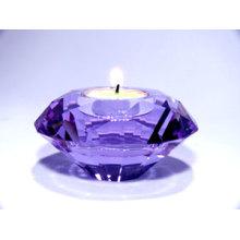 Presentes de cristal do suporte de vela