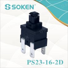 Pupitre de réinitialisation rectangulaire Soken PS23-16-2D 2 Pole