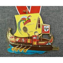 Custom Die Casting Enamel Metal Medal with Lanyard