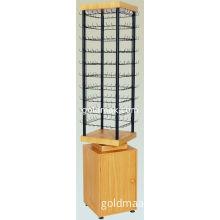 Rotating Brochure Floor Display Stands , Metal Rack Shelves For Gift Shops