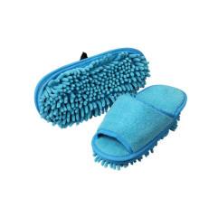 Room microfiber and chenille indoor ladies mop slippers