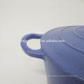 Blaues Email Gusseisen Kochgeschirr / Auflauf