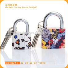New Style Pattern Printing padlock With Atomic Key