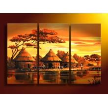 Handmade африканская картина маслом ландшафта (AR-066)