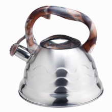 Colorful handle whistling coffee pot kettle