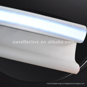 tela reflectante de spandex de algodón elástico ligero para chaqueta