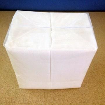 laminated 1/8 fold paper napkins
