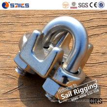 Abrazadera de cuerda de alambre de acero inoxidable de alta calidad