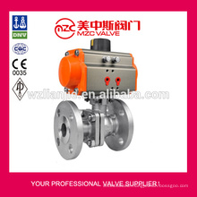 150LB CF8M Flanged Ball Valves Pneumatic Actuator Ball Valves