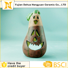 Ceramic Eggplant Candle Holder Arts for Halloween Decoration