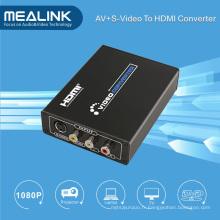 3RCA AV Cvbs composite et S-Vidéo vers HDMI Upscaler convertisseur