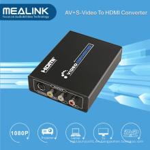 3RCA AV Cvbs Composite & S-Video to HDMI Convertidor Upscaler