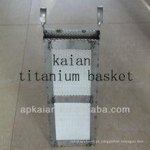 Galvanização de titânio cesta