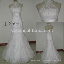 JJ2507 new arrival beaded A-line lace wedding gowns 2011