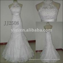 JJ2507 nova chegada bordou vestidos de noiva de renda A-line 2011