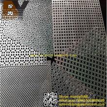 Malha de metal perfurado de alumínio para decoração