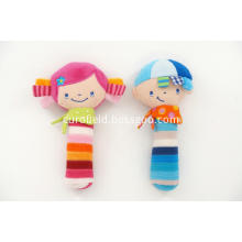Boy and Girl Baby Rattle Soft Toy