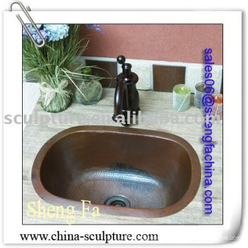 handmade copper sink,hotel decoration