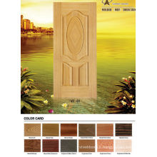 MDF board natural veneer molded wood door skin