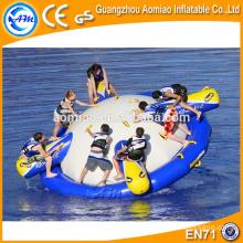 Juegos de agua inflable semi barco inflable discoteca barco