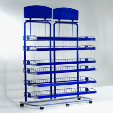 Supermarket Retail Metal Display Rack/Display Stand with Customized Size