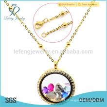 24k ouro âncora locket colar jóias, produtos de alta qualidade ouro cheias cadeias de jóias