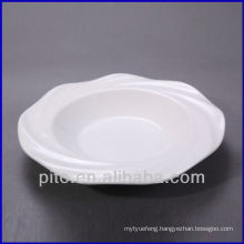 chaozhou porcelain factory wave border porcelain soup plate