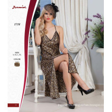 2018 Sexy Long Nightdress Leopard