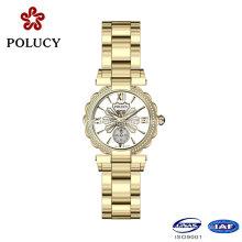 2016 favoritos calidad mujeres inoxidable acero relojes de señora con diseño de lujo