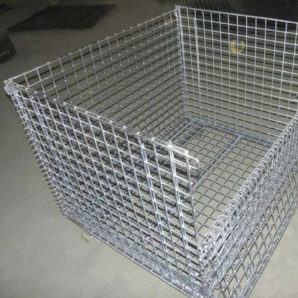 China Stack Mesh Sided Metal Pallet Cage Manufacturers
