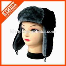 Diseño de la fabricación de China su propio sombrero de pieles al por mayor del invierno del faux