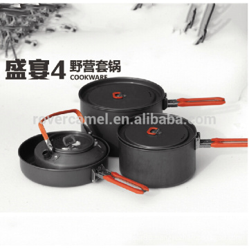 Fire Maple Feast 4 Camping Pot Picnic Cooking Cookware Set Hard Aluminum Cooking Set for 4-5 Person