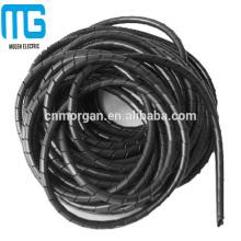 Luva espiral branca elétrica personalizada da proteção do fio da tubulação
