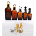 Square Brown Glass Essential Oil Bottle with Dropper (NDB06)