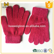 New Basic Colorful Elastic Acrylic Knitted Gloves for both Children and Adults