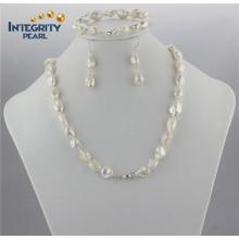 Набор перлы Keshi пресноводный 10-12mm 8 и 20 дюймов Ювелирные изделия перлы ювелирных изделий Keshi
