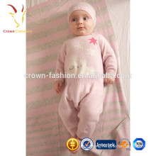Soft Warm Cashmere Baby Jumper Suit Layette