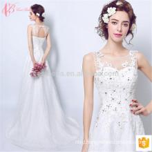 Slim fit spaghetti strap 2017 alibaba bridal gown wedding dress