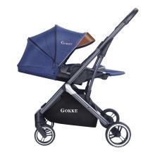Роскошная коляска с козырьком от солнца, съемная детская коляска-багги с моющейся подушкой сиденья
