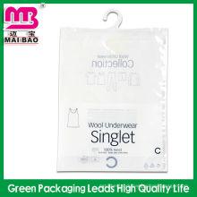 Reach SGS ziplock t-shirt plastic packaging bag