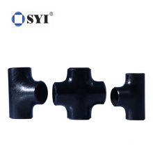 High Quality Melleable Black Seamless Carbon Steel Elbow Tee Pipe Fittings