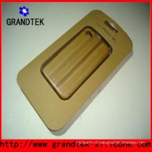 Bela gravura de madeira casos para iPhone5 capa