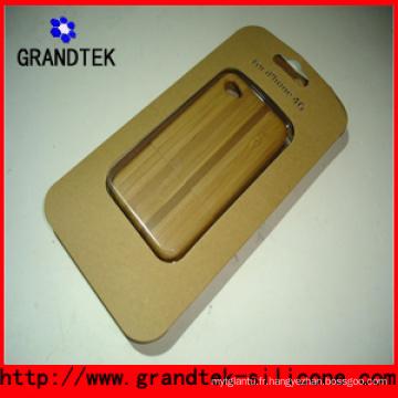 Belle gravure de caisses en bois pour la couverture de l'iPhone5