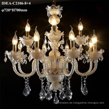 farbige Glaskronleuchter Kristall dekorative Kerzenlampe
