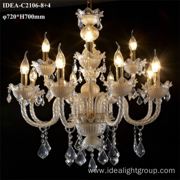 colored glass chandeliers crystal decorative candle lamp
