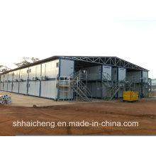 Campo del sitio de la construcción construido del envase de Prefab (shs-fp-camp061)